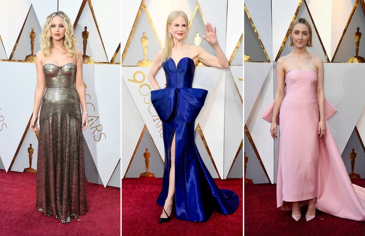 Gli abiti delle star agli Oscar 2018