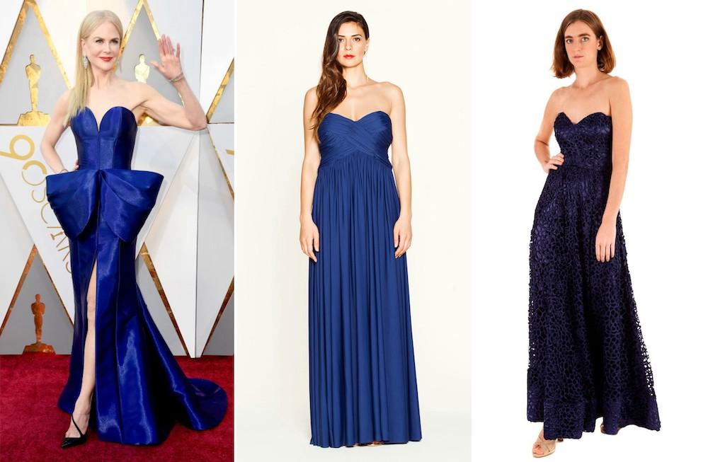 Abito blu Nicole Kidman Oscar 2018 Dress You Can