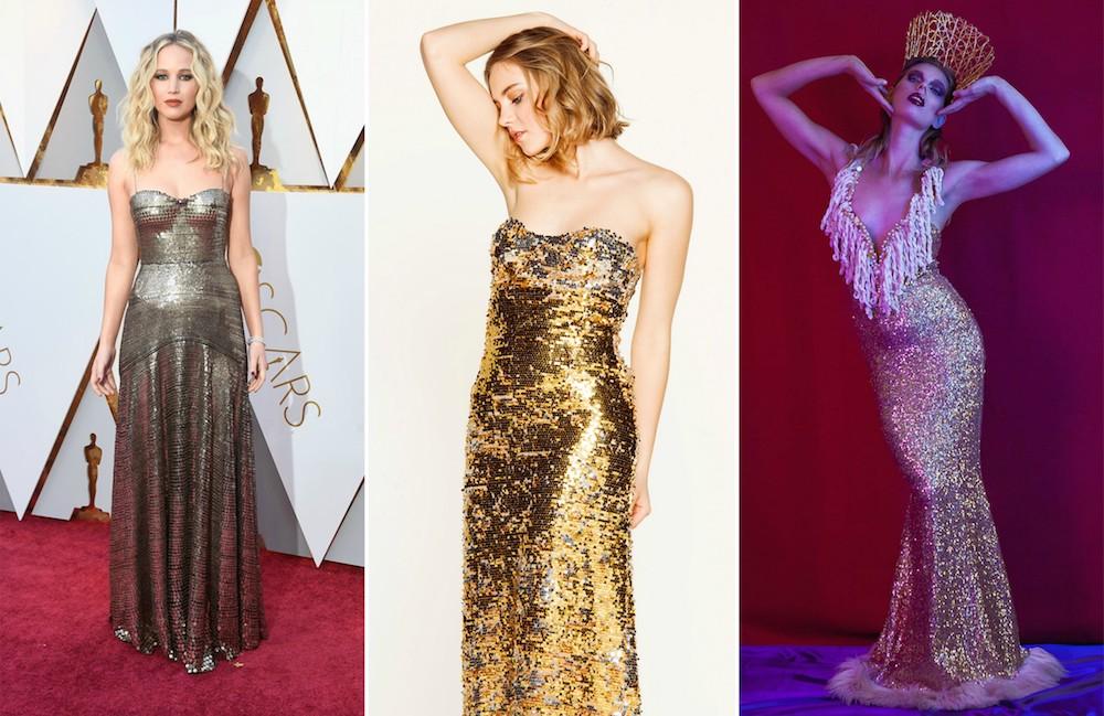 Abito oro Jennifer Lawrence abiti a noleggio Dress You Can
