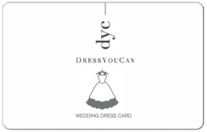 wedding dress card